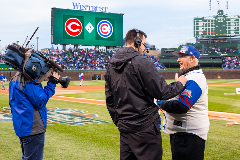 William Flood Interviewed at Chicago Cubs Game