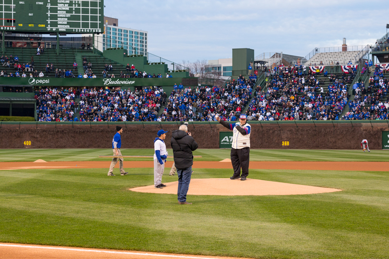 William Flood Chicago Cubs First Pitch