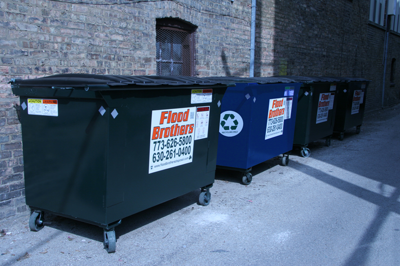 Flood Brothers Dumpsters with Recycling