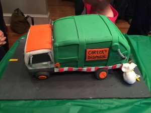 Flood Brothers Disposal Garbage Truck Cake